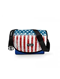 Tagger Premium Unisex Crew Messenger Bag, Blue, Dutch Designed, Custom Made Printed Bags