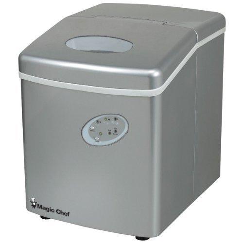 Magic Chef Portable Ice Maker Silver MCIM22TS