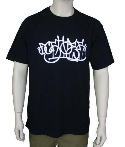 DC Shoes Men's Silent Graffite Graphic Black T-Shirt 55200231