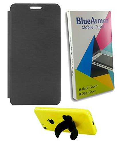 BlueArmor Black Flip Cover Case for Xolo Era 4g & Silicone Stand