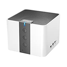 Anker Classic Portable Wireless Bluetooth Speaker, Powerful Sound with Enhanced Bass, 20 Hour Battery Life, and Built-in Mic, works with iPhone, iPad, Nexus, Laptops and More (White)