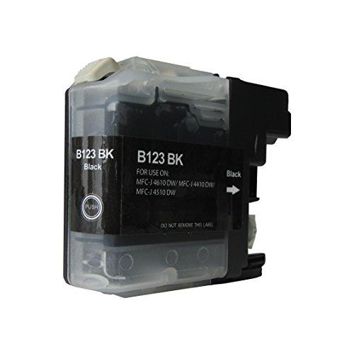 Druckerpatrone für Brother LC-127 schwarz - Füllmenge Schwarz, 23ml kompatibel zu LC127XLBK