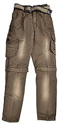 Gowri Marketing Boy's' Slim Fit Pant (GM000235, Brown, 12-13 Years)