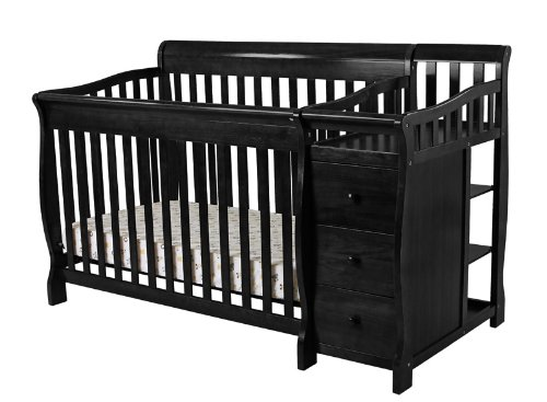 Black Sleigh Crib Dream On Me 4 In 1 Brody Convertible