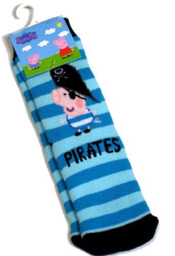 Peppa Pig George Pirates Slipper Socks Size 3-5.5