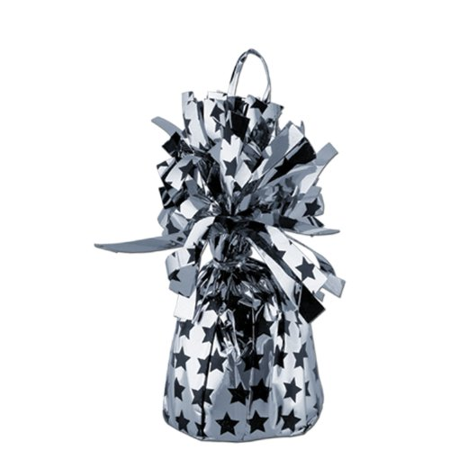 Printed Balloon Weight - Stars (black & silver) Party Accessory  (1 count) - 1