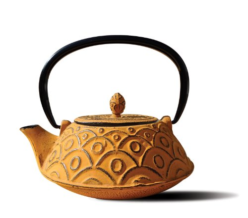 Old Dutch Cast Iron Kyoto Teapot, 26-Ounce, Tangerine