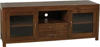 Nomades Design  500720 Meuble TV avec 2 Portes vitrées Bois/Contreplaqué 45 x 150 x 60 cm