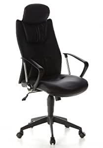 Buerostuhl24 634300 Torbole Executive Office PU Leather Black