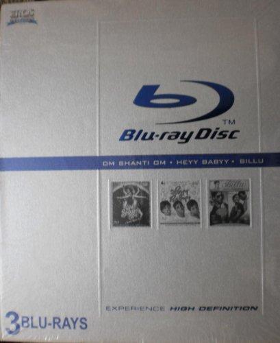 Om Shanti Om, Heyy Babyy, Billu Barber-3 Blu Rays in 1