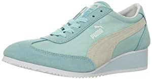 PUMA Women's Caroline Wedge Fashion Sneaker,Clearwater,7.5 B US