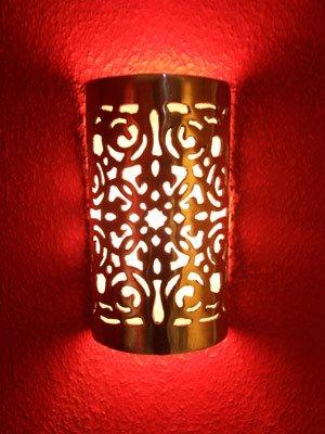 Oriental Moroccan Metal Wall Sconce Castillo Lighting