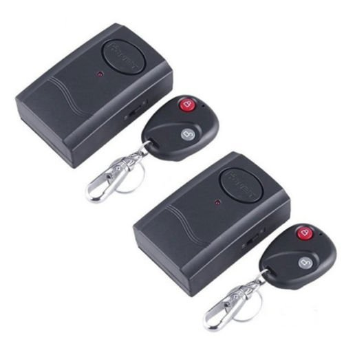 2x Wireless Remote Control Vibration Alarm Car Motor Bike Window Door Security