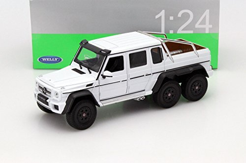 New 1:24 W/B WELLY COLLECTION - WHITE 2014 MERCEDES-BENZ G 63 AMG 6X6 Diecast Model Car By Welly (Mercedes Benz Model Cars compare prices)