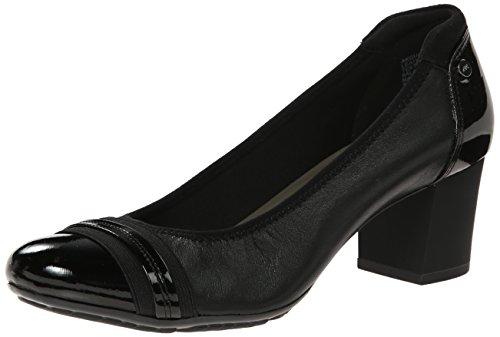 Anne Klein Sport Women's Guardian Leather Dress Pump, Black, 9 M US