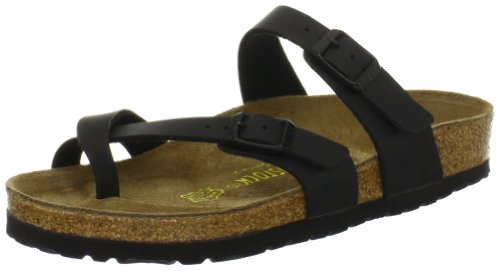 Birkenstock Women's Mayari Birko-flor Sandal,Black,39 EU/8 M US (Birkenstock Sandals Women 39 compare prices)
