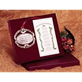 Merry Christmas from Heaven Pewter Keepsake Ornament with Poem in Gift Box