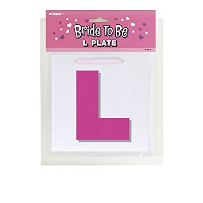 "4x Bride To Be ""L"" Plate"