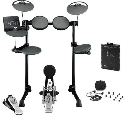 Yamaha Dtx450K Electronic Drum Kit Bundle With Monster Diesel Vektr In-Ear Headphones