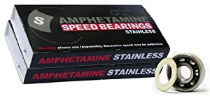 x16 STAINLESS STEEL Inline Skate Roller Hockey Bearings by Amphetamine