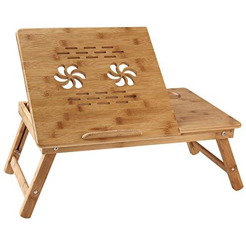 miadomodo betttisch laptoptisch betttablett aus bambus in. Black Bedroom Furniture Sets. Home Design Ideas