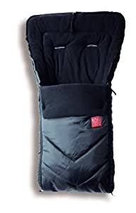 "Kaiser Naturfelle 6510625 - Fußsack ""Dublas Winter"", Farbe: schwarz"