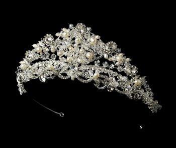Princess Swarovski and Freshwater Pearl Bridal Tiara
