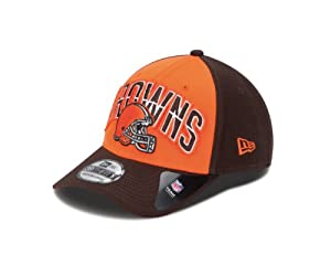 NFL Cleveland Browns 2013 Draft 39Thirty Flex Fit Cap, Small/Medium, Brown