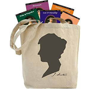 jane austen tote amp  audio books  38 compact discs  40  hours