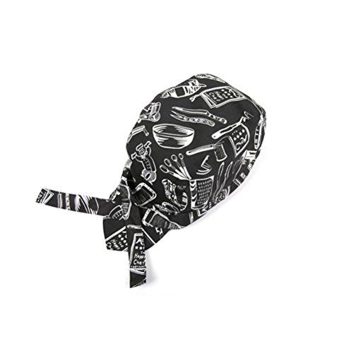 LEORX Cappelli Headwrap Cappellini Bandana (Nero + Bianco)