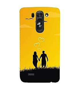 Couple Love Dreams Cute Fashion 3D Hard Polycarbonate Designer Back Case Cover for LG G3 Beat :: LG G3 S :: LG G3 S Duos :: LG G3 Beat Dual :: LG D722K :: LG G3 Vigor :: LG D722 D725 D728 D724