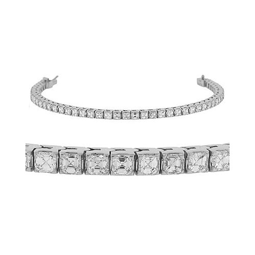 Diamond Bracelet - Asscher Cut Diamond Tennis