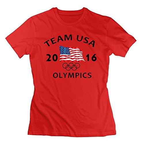 HappWan Women's USA 2016 OLYMPICS T-shirt