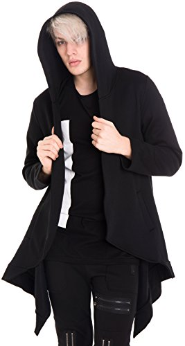 pizoff-unisex-extra-long-asymmetric-cut-coat-hoodie-dress-with-pleat-front-y1573-xl