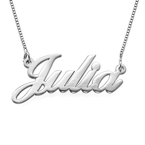 14K White Gold Name Necklace - Custom Made With Any Name!