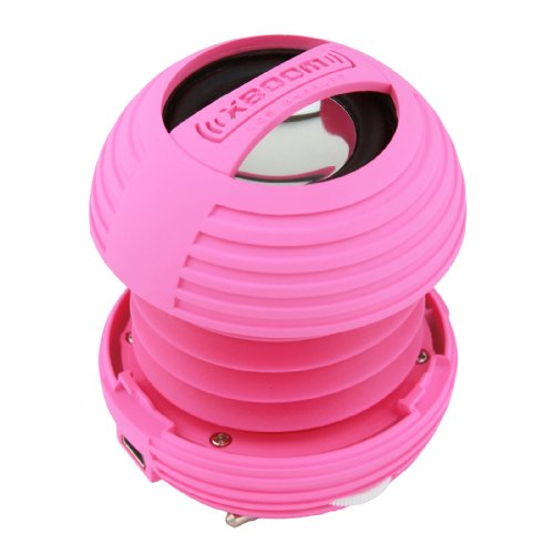 Xboom Mini Portable Capsule Speaker With Rechargeable Battery And Enhanced Bass+ Resonator - Pink