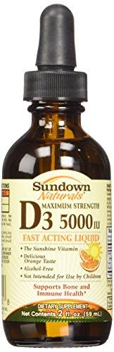 Vitamin D3 Liquid 5000iu Sundown,orange Flavor, Size: 2oz