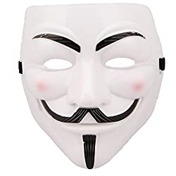 Costumes V For Vendetta Mask White Mask Masquerade Cosplay Mask