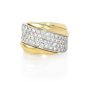 Leo Pizzo Diamond 18k Two Tone Gold Ring