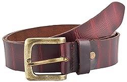Midas Men's Belt (CLB547_38 , Maroon)