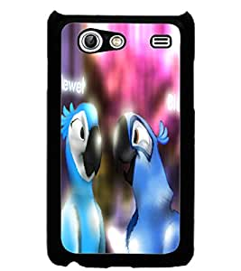 ColourCraft Loving Parrots Design Back Case Cover for SAMSUNG GALAXY S ADVANCE I9070