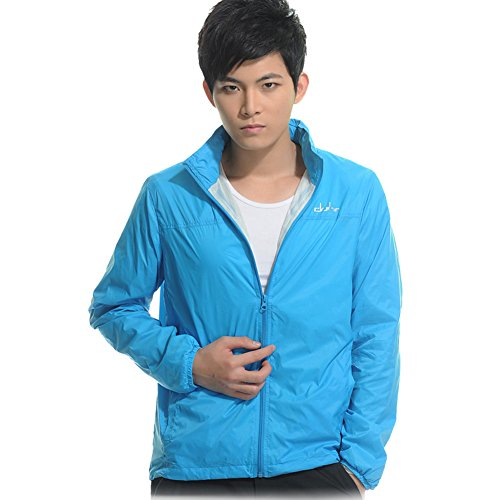Clothin Quick Dry Double Shell Anti-Uv Shower-Proof Nylon Hood Windbreak Mens Jacket Outdoor front-88398