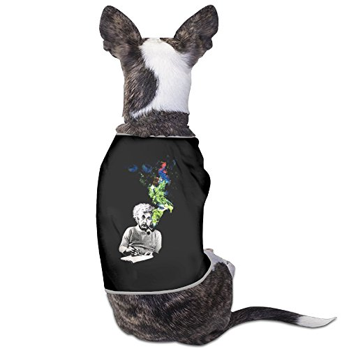 Albert Einstein Smoking Colors Funny Dog Shirt