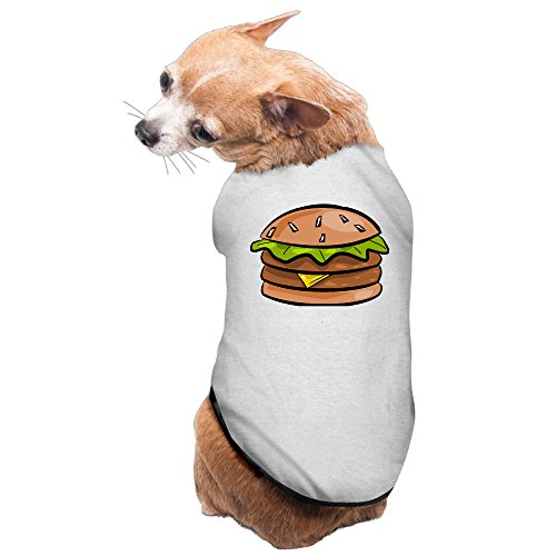 [Humburger Cute Cartoon Burger Pet New Pajamas Dog Shirts Printed Puppy Clothes] (Dog Burger Costume)
