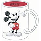Disney Mickey Mouse 3d Tonal 14oz. Ceramic Mug by Jerry Leigh (Color: White, Tamaño: One Size)