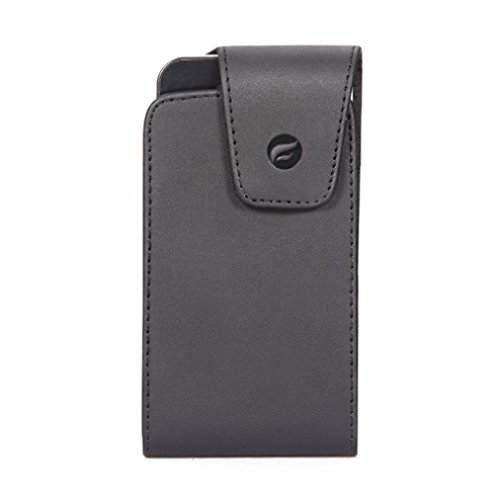 Black Vertical Leather Side Case with Swivel Belt Clip for AT&T Samsung GALAXY S4 Mini (SGH-I257) - AT&T Samsung Captivate i897 - AT&T Samsung Focus i917 - AT&T Sony Ericsson Xperia Arc (Samsung S4 Mini I257 Case compare prices)