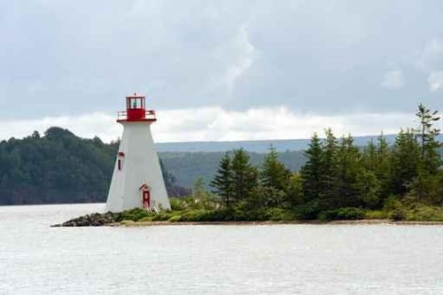 Sky Wall Decals Bras D'Or Lake Lighthouse Near Baddeck - 48 Inches X 32 Inches - Peel And Stick Removable Graphic