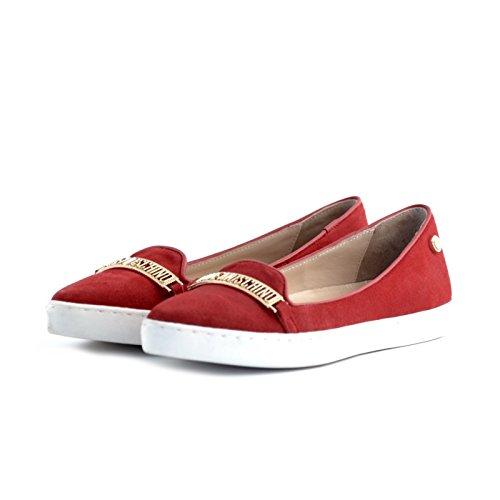 ballerine Love Moschino camoscio rosso 41