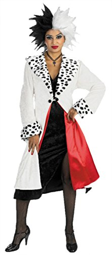 Halloween 2017 Disney Costumes Plus Size & Standard Women's Costume Characters - Women's Costume CharactersDisguise Women's Disney Deluxe Cruella Devil Prestige Fancy Halloween Costume, One Size (Up To 16)