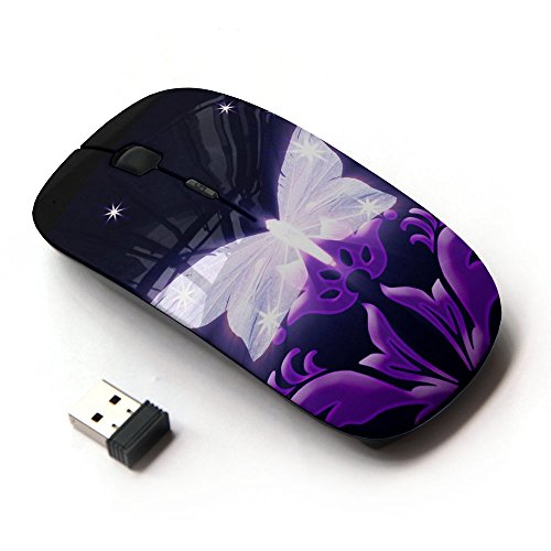 KOOLmouse [ Mouse Senza Fili Ottico 2.4G ] [ Fairy Princess Wings Tinkerbell Night ]
